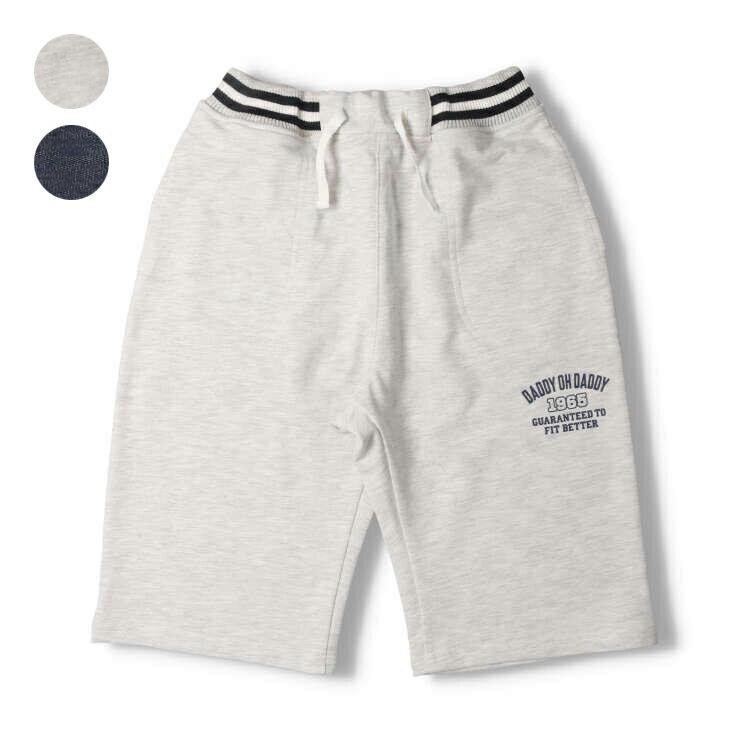 【子供服】 Daddy Oh Daddy (ダディオダディ) デニムニット6.5分丈パンツ 80cm〜150cm V31113