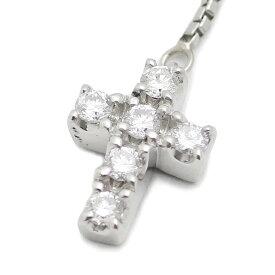ヨンドシー 4℃ プラチナ ダイヤモンド クロスモチーフ ネックレス 40cm