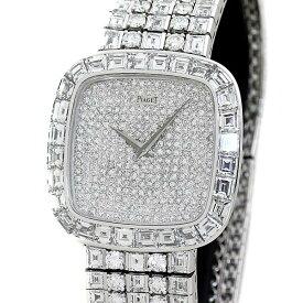 豪華!ピアジェ PIAGET メンズ腕時計 全面純正フルダイヤ K18WG バケットダイヤ ハイジュエリーウォッチ 手巻き 参考定価 1億9千万円