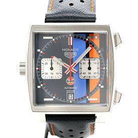 タグホイヤー TAG HEUER モナコ クロノグラフ ガルフ スペシャルエディション SS/革 CAW211R.FC6401 メンズ腕時計 自動巻き