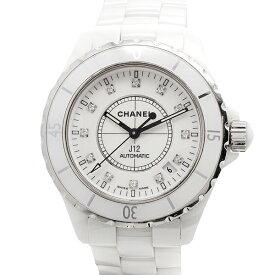 シャネル CHANEL J12 H1629 12Pダイヤ メンズ腕時計 セラミック 自動巻き