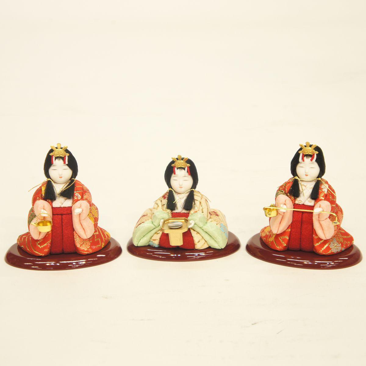 雛人形 一秀 木目込み飾り 三人官女 170号 雛人形 HNIS-L-3 (346158)ひな人形 かわいい 雛 木目込人形飾り