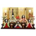 雛人形 真多呂 コンパクト 木目込み飾り 真多呂作 木目込み雛人形 香桜 5人飾り HNM-1372 (47)おひなさま お雛様 ひな…