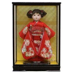 市松人形 松寿 コンパクト 市松人形 松寿作 市松人形 切嵌京刺繍 ケース入り (HB9) ICMY-BC12-43-C (HB9)おひなさま お雛様 ひな人形 かわいい おしゃれ インテリア ひな人形 小さい ミニ