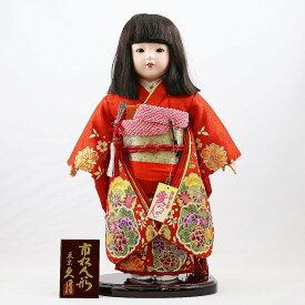 雛人形 久月 市松人形 久月作 市松人形 愛ちゃん 金彩 赤 市松 ICQ-K10047G-1ひな人形 かわいい おしゃれ インテリア