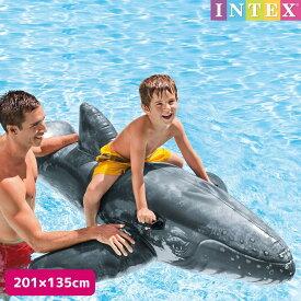 フロート リアリスティックホエール ライドオン 201×135cm 対象年齢:3歳以上 SWM-FL-57530INTEX (インテックス) クジラ型浮き輪 鯨 くじら 子供用 大人用 【あす楽対応】 etc