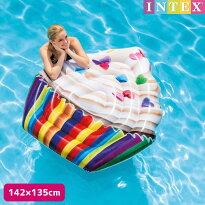 フロートINTEX(インテックス)カップケーキマット142×135cm/swm-fl-58770子供〜大人用フロートナイトプール可愛い大きい【あす楽対応】etc