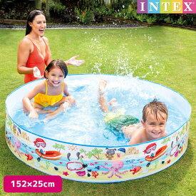プール ファンアットザビーチスナップセットプール 152×25cm 対象年齢:3歳以上 SWM-PL-56451INTEX (インテックス) 大型 家庭用プール 子供用 大人用 空気入れ不要 円形 丸型 【あす楽対応】 etc