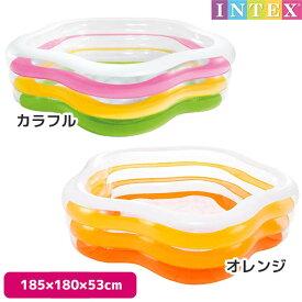 プール サマーカラーズプール 185×180×53cm 対象年齢:6歳以上 SWM-PL-56495INTEX (インテックス) 大型 家庭用プール 子供用 大人用 【あす楽対応】 etc