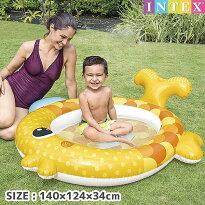 プールINTEX(インテックス)1歳〜3歳までフレンドリーゴールドフィッシュベビープール140×124×34cm/swm-pl-57111可愛い赤ちゃん小さい子供用ベビープールビニールプール家庭用プール【あす楽対応】etc