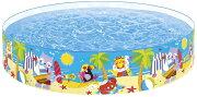 プールINTEX(インテックス)3歳からシーショアバディーズスナップセットプール244×46cm/swm-pl-58457大人子供可愛い赤ちゃん小さいベビープールビニールプール家庭用プール空気入れ不要(空気不要)【あす楽対応】etc