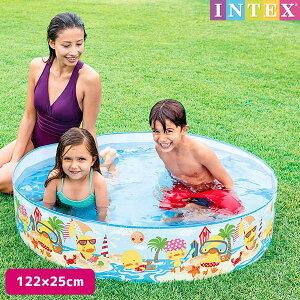プール ダッキングスナップセットプール 122×25cm 対象年齢:3歳以上 SWM-PL-58477INTEX (インテックス) 大型 家庭用プール 子供用 大人用 空気入れ不要 円形 丸型 【あす楽対応】 etc