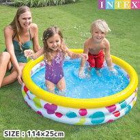プールINTEX(インテックス)2歳からクールドットプール114×25cm/swm-pl-59419可愛い赤ちゃん小さい子供用ベビープールビニールプール家庭用プール丸型(円形)【あす楽対応】etc