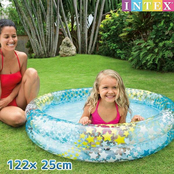 プール INTEX (インテックス) 2歳からファンシースタープール 122×25cm / swm-pl-59421可愛い 赤ちゃん 小さい 子供用 ベビープール ビニールプール 家庭用プール 【あす楽対応】etc