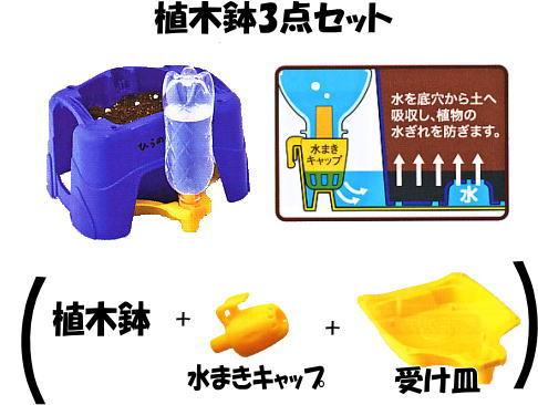 プラスチック植木鉢3点セット/植木鉢A型セット★【あす楽】【送料無料】受け皿、水まきキャップ付き