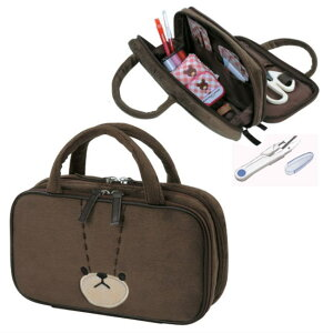 裁縫セット 糸切はさみ付きくまのがっこう ジャッキーフェイス型バッグ入り【あす楽】【送料無料】小学生女の子向け
