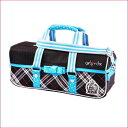 絵の具バッグ/チェック★小学生女の子向け画材バッグ【あす楽】かわいい水彩ケース 積み重ねタイプ バッグのみ