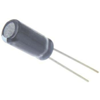 日本ケミコン アルミ電解コンデンサー 16V 47μF(105℃・高さ 5mm・10個1セット) 【EKRE160ELL470MF05D】