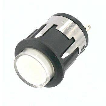 ミヤマ電器 小型照光式押しボタンスイッチ 白 【DS-802PC-12V-W】