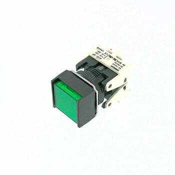 OMRON 正方形押しボタンスイッチ 緑 【A16-AGM-1P】