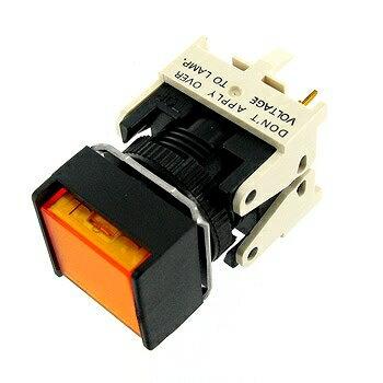 OMRON 正方形押しボタンスイッチ 黄 【A16-AYM-1P】