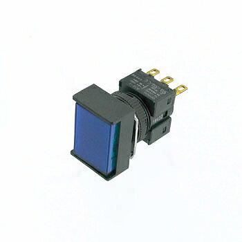 OMRON 長方形押しボタンスイッチ 青 【A16-JAM-1】