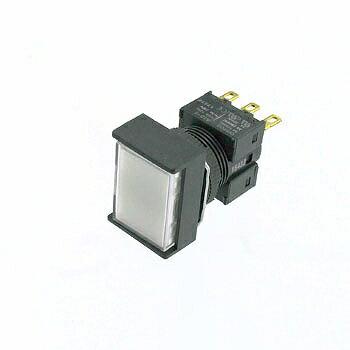 OMRON 長方形押しボタンスイッチ 白 【A16-JWM-1】