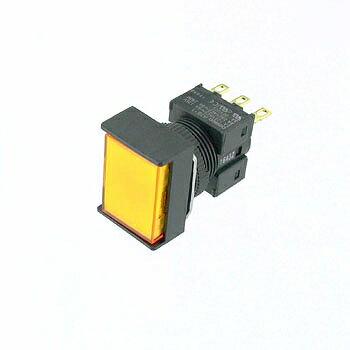 OMRON 長方形押しボタンスイッチ 黄 【A16-JYM-1】