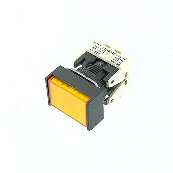 OMRON 長方形押しボタンスイッチ 黄 【A16-JYM-1P】