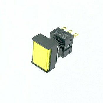 OMRON 長方形押しボタンスイッチ ピュアイエロー 【A16-JPYM-1】