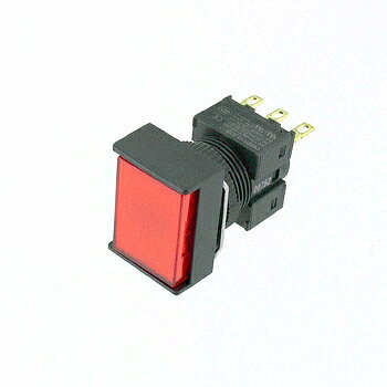 OMRON 長方形押しボタンスイッチ 赤 【A16-JRM-1】