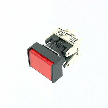 OMRON 長方形押しボタンスイッチ 赤 【A16-JRM-1P】