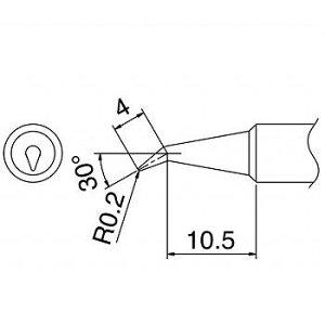 HAKKO FX8801-01/FX600-01/FX600-02用交換こて先/0.2BR型 【T18-BR02】