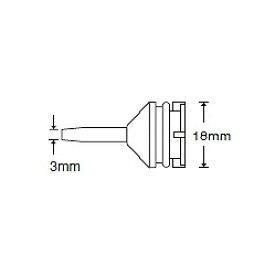 HAKKO 簡易はんだ吸取器 ハッコースッポン18 交換ノズル 18mm 【18-N】