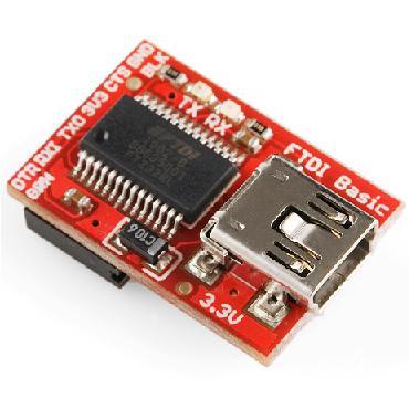 Arduino FTDI Basic Breakout-3.3V USB-シリアルアダプタ 【DEV-09873】