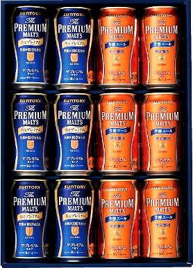 【送料無料】北海道・九州・沖縄は別途送料 サントリー ザ・プレミアムモルツ エール 2種セット ビール ギフト KH30K 350ml×12缶 香るプレミアム 芳醇エール k1602 KH-30K