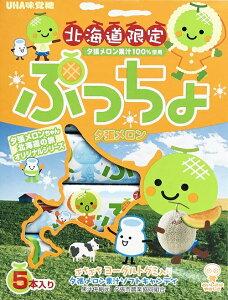 【北海道限定】味覚糖 ぷっちょ 夕張メロン味 5本入 夕張メロン 果汁100% キャンティ ハロウィン