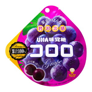 【UHA味覚糖】コロログレープ(48g×6袋) 果汁100%(生果汁換算) 濃厚かつジューシー 新感覚グミ