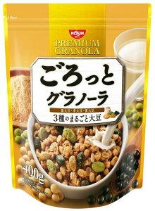 【日清シスコ ごろっとグラノーラ 3種のまるごと大豆 400g】送料無料 食物繊維 朝食にぴったり