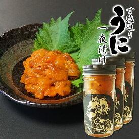 うに 一夜漬け 60g×3個 北海道産 高級バフンウニ 濃厚 甘塩造り 塩ウニ 漁師が作る本物の味