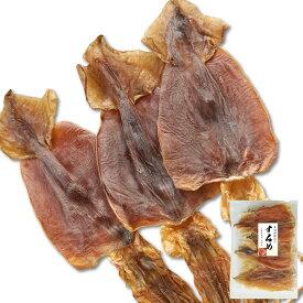 珍味 おつまみ するめ 特大サイズ 3枚入 (150g前後) 本場函館の味わい 北海道産