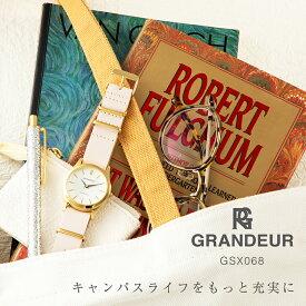 【送料無料】腕時計 レディース 革ベルト ペールピンク ベージュ キャメル ウォッチ グランドール Grandeur GSX068 時計