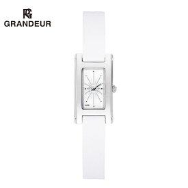 【送料無料】腕時計 レディース 二重巻革ベルト 白 ウォッチ ダブルトュール グランドールエレガンス Grandeur Elagance ESL023W1 時計
