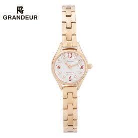 【送料無料】腕時計 レディース ピンクゴールド メタルベルト 白貝 シェル ウォッチ グランドールエレガンス Grandeur Elagance ESL054 時計