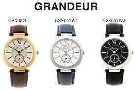 【送料無料】腕時計 メンズ レザーバンド ウォッチ グランドール Grandeur GSX057 時計
