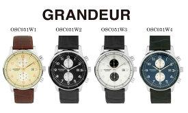 【送料無料】腕時計 メンズ うす型 クロノグラフ ウォッチ グランドール Grandeur OSC051シリーズ