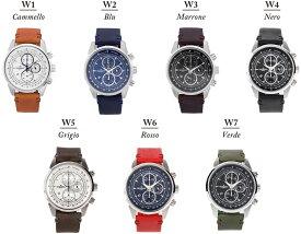 【送料無料】腕時計 メンズ クロノグラフ イタリアンレザー 革ベルト ウォッチ グランドールプラス GRANDEUR PLUS+ GRP001W【メーカー保証】