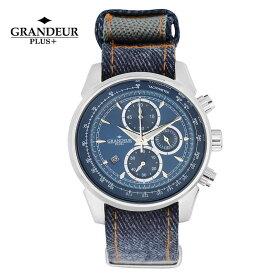 【送料無料】腕時計 メンズ クロノグラフ NATOバンド 岡山デニム ウォッチ グランドールプラス GRANDEUR PLUS+ GRP001D