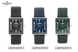 【送料無料】腕時計 メンズ 革ベルト ウォッチ グランドールプラス GRP009 GRANDEUR PLUS+