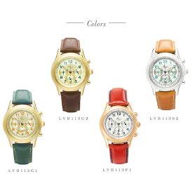 【送料無料】腕時計 レディース 牛革ベルト クロノグラフ ウォッチ ラヴィンブーケ LOV-IN Bouquet LVB113 日本製